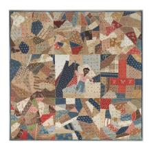 Pieced and tied child's quilt, Possibly New York State, circa 1870