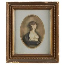 John Christian Rauschner (German-American, 1760-after 1819), Wax portrait miniature of Charlotte Muller of Baltimore, circa 1811