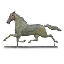 Large copper and cast zinc weathervane of running horse