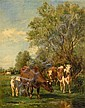 MARIE DIETERLE, (FRENCH 1856-1935), CATTLE WATERING, Marie Diéterle, Click for value