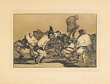 FRANCISCO DE GOYA, (SPANISH 1746-1828), SIX ETCHING AND AQUATINTS