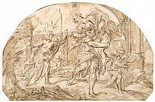 VENETIAN SCHOOL, (C. 1700), AENEAS AND ANCHISES FLEEING TROY