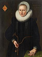 DUTCH SCHOOL, (17TH CENTURY), PORTRAIT OF A LADY, PROBABLY MARGARETHA RERINCK