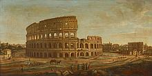 ATTRIBUTED TO GASPAR VAN WITTEL, (FLEMISH C.1653-1736), THE COLOSSEUM AND THE ARCH OF CONSTANTINE