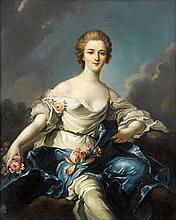 AFTER JEAN MARC NATTIER, (FRENCH 1685-1766), FLORA (MARQUISE DE BAGLION)