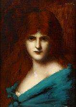 JEAN JACQUES HENNER, (FRENCH 1829-1905), AUBURN BEAUTY