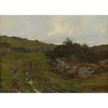 HUGH BOLTON JONES, (AMERICAN, 1848–1927), THE STREAM UP IN THE MOUNTAIN