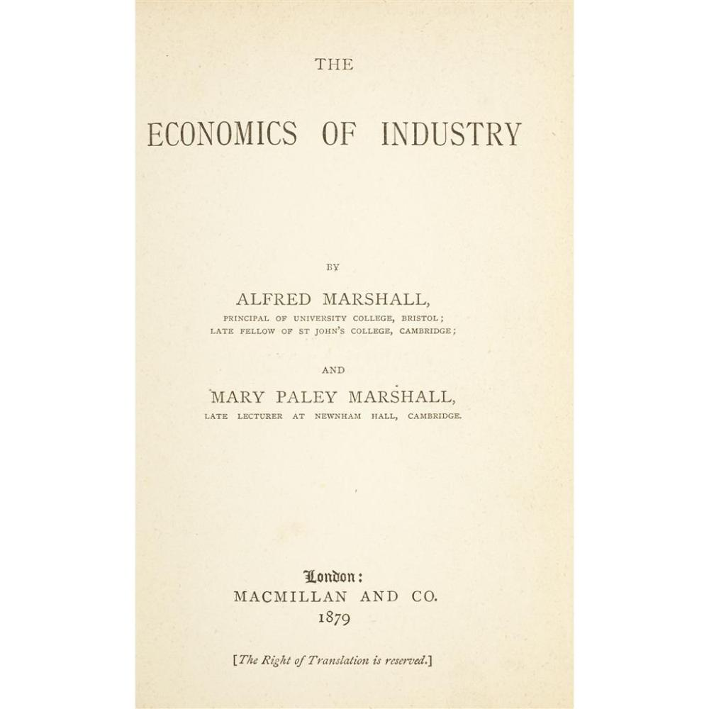 Business & Industry] Marshall, Alfred, and Mary Paley Marsh