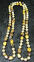 Tiger's eye and gold bead necklace, ,