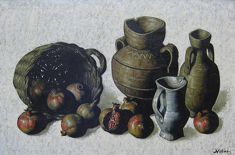 JESUS VILLAR, (FRENCH, 20TH CENTURY), STILL LIFE