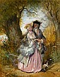 HENRY ANDREWS, (BRITISH 1794-1868), A COURTING COUPLE, Henry Andrews, Click for value