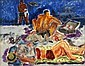 ANGELO PINTO, (AMERICAN, 1908-1994), AT THE BEACH, Angelo Raphael Pinto, Click for value