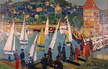 PIERRE GAILLARDOT, (AMERICAN, 1910-2002), REGATTA