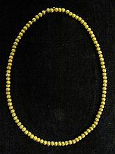 14 karat yellow gold bead collar necklace, , Petite detailed gold beads on chain.