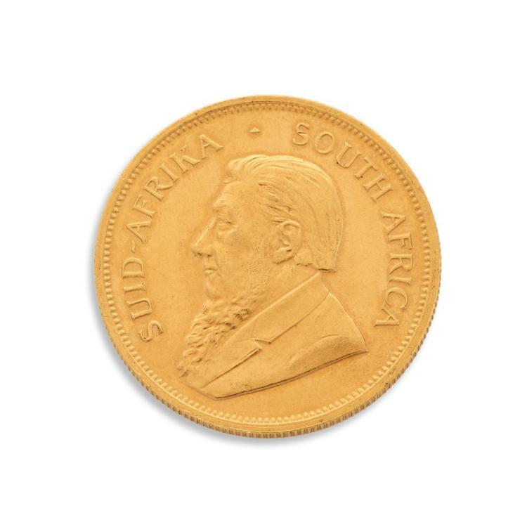 A one ounce Krugerrand,