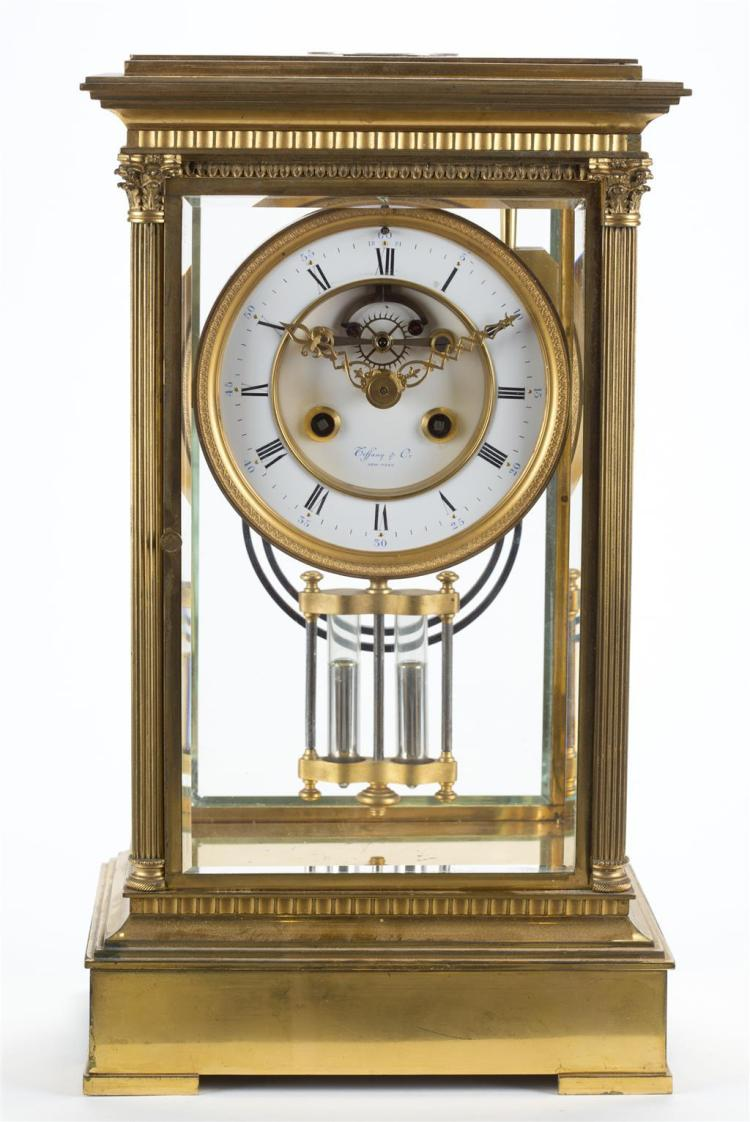 A Tiffany and Co. regulator clock, 20th century