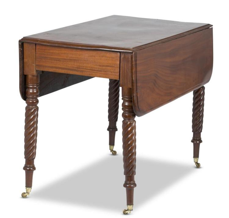 A Sheraton mahogany pembroke table, late 19th century