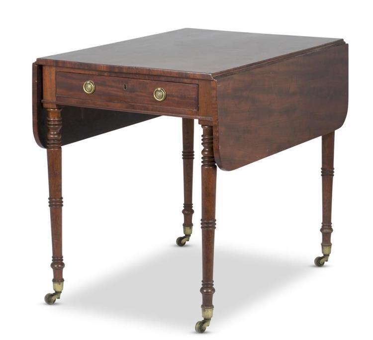 A Regency mahogany pembroke table, 19th century