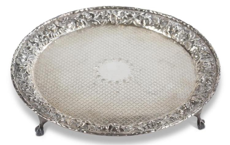 A sterling silver salver, s. kirk and son, baltimore, md