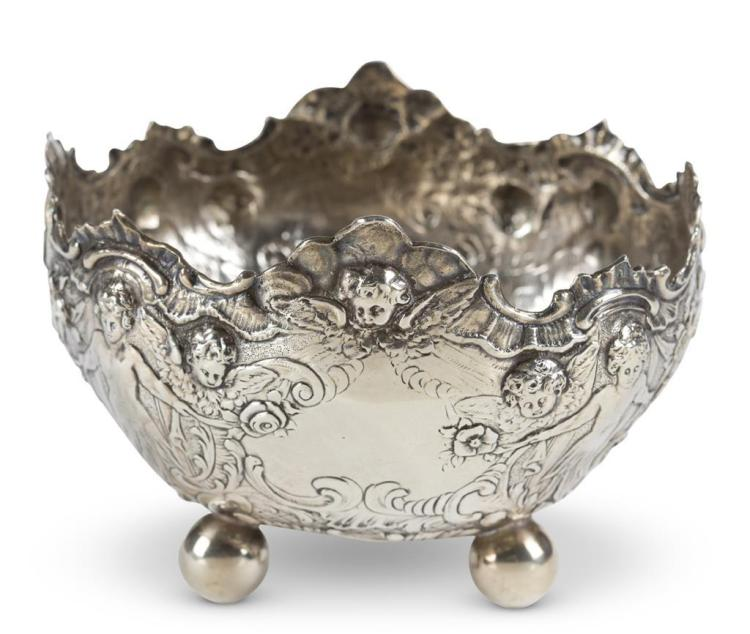 A German silver bowl, schleissner & sohne, hanau, late 19th century