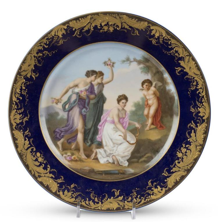 A porcelain cabinet plate, continental, late 19th/early 20th century
