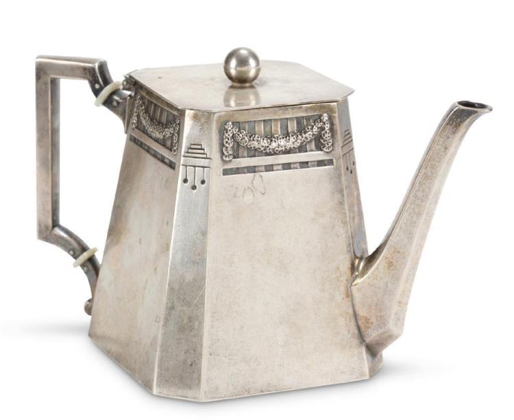 A German .800 silver kettle, m.h. wilkens & sohne, bremen-hemelingen, 19th century,