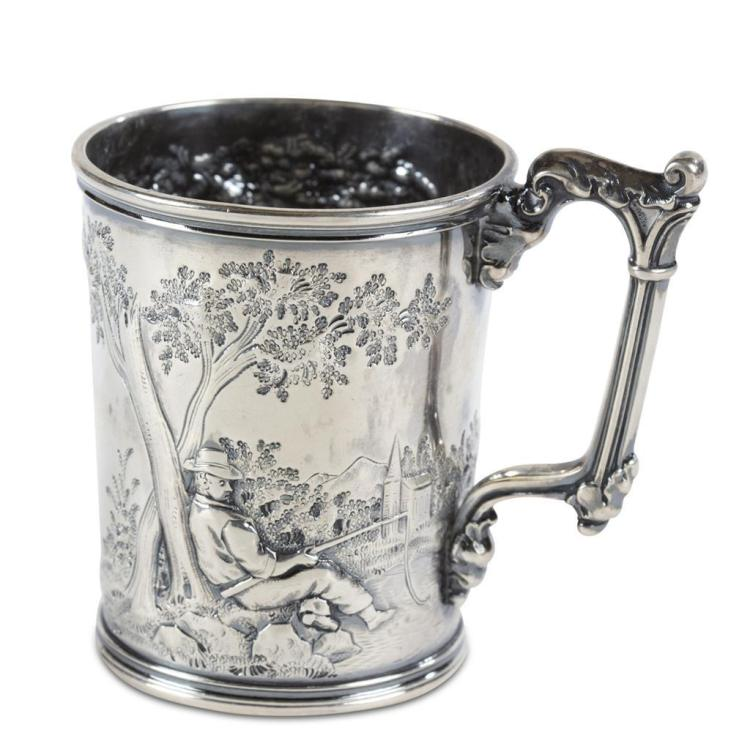 A child''s coin silver cup, gorham manufacturing co., providence, ri, mid-19th century
