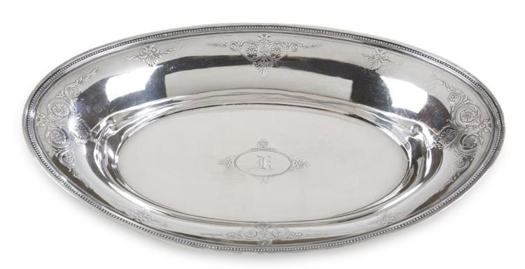 A sterling silver serving bowl, tiffany & co., new york, ny, early 20th century
