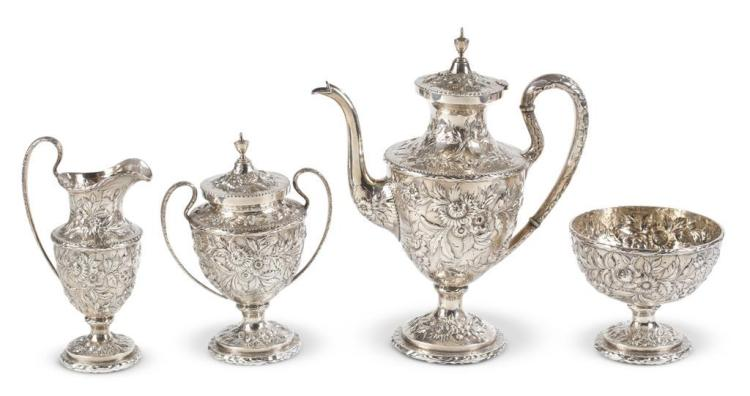 A four piece sterling silver coffee service, s. kirk & sons, baltimore, md, early 20th century