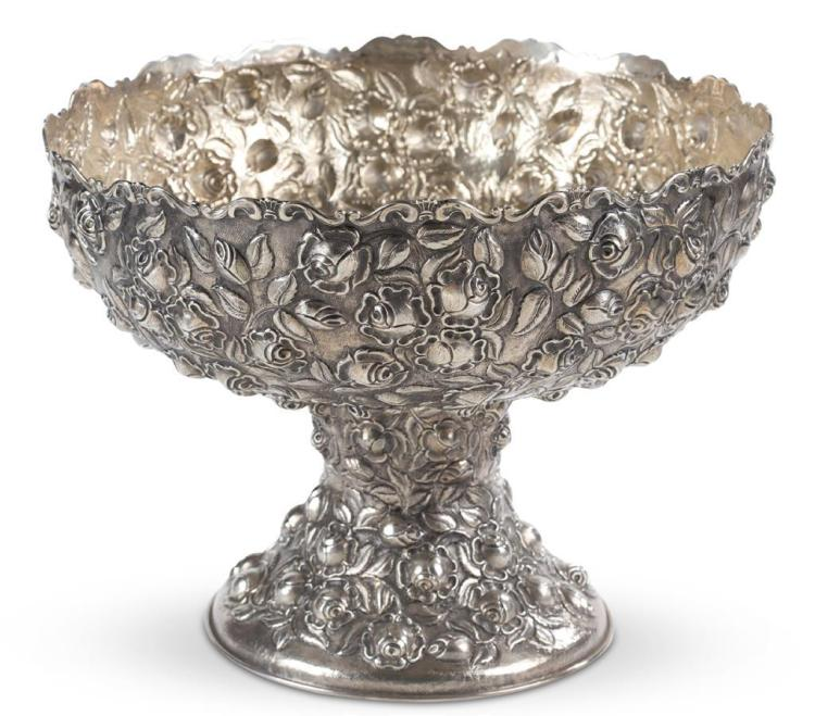 A sterling silver punch bowl, 20th century