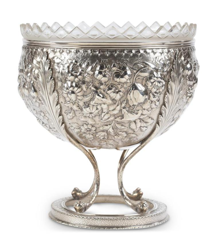A coin silver centerpiece bowl, s. kirk & son, baltimore, md, 19th century