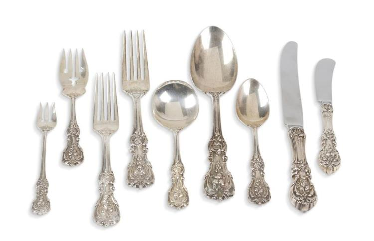 A ''Francis the 1st'' pattern sterling silver flatware service, reed & barton, taunton, ma, 20th century