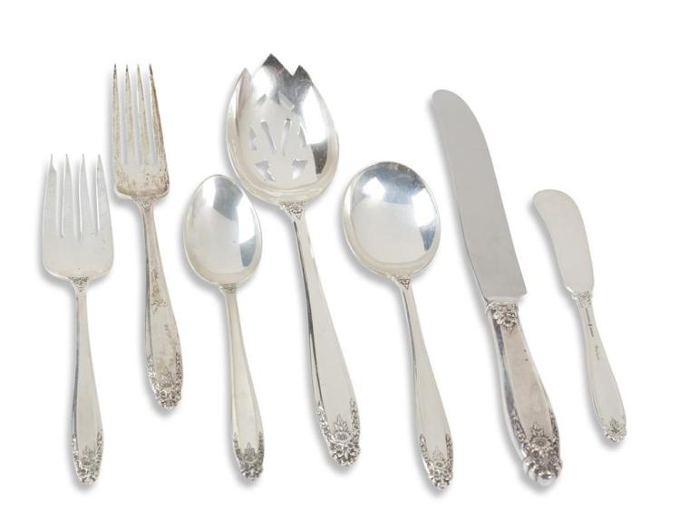 A ''Prelude'' pattern sterling silver flatware service, international sterling co., meriden, ct, 20th century