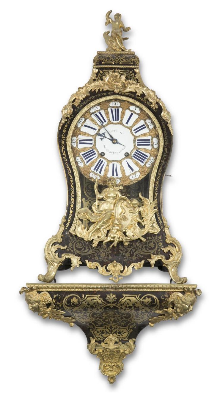 A Louis XV cartel clock, jean-jacques fieff, paris, 18th century