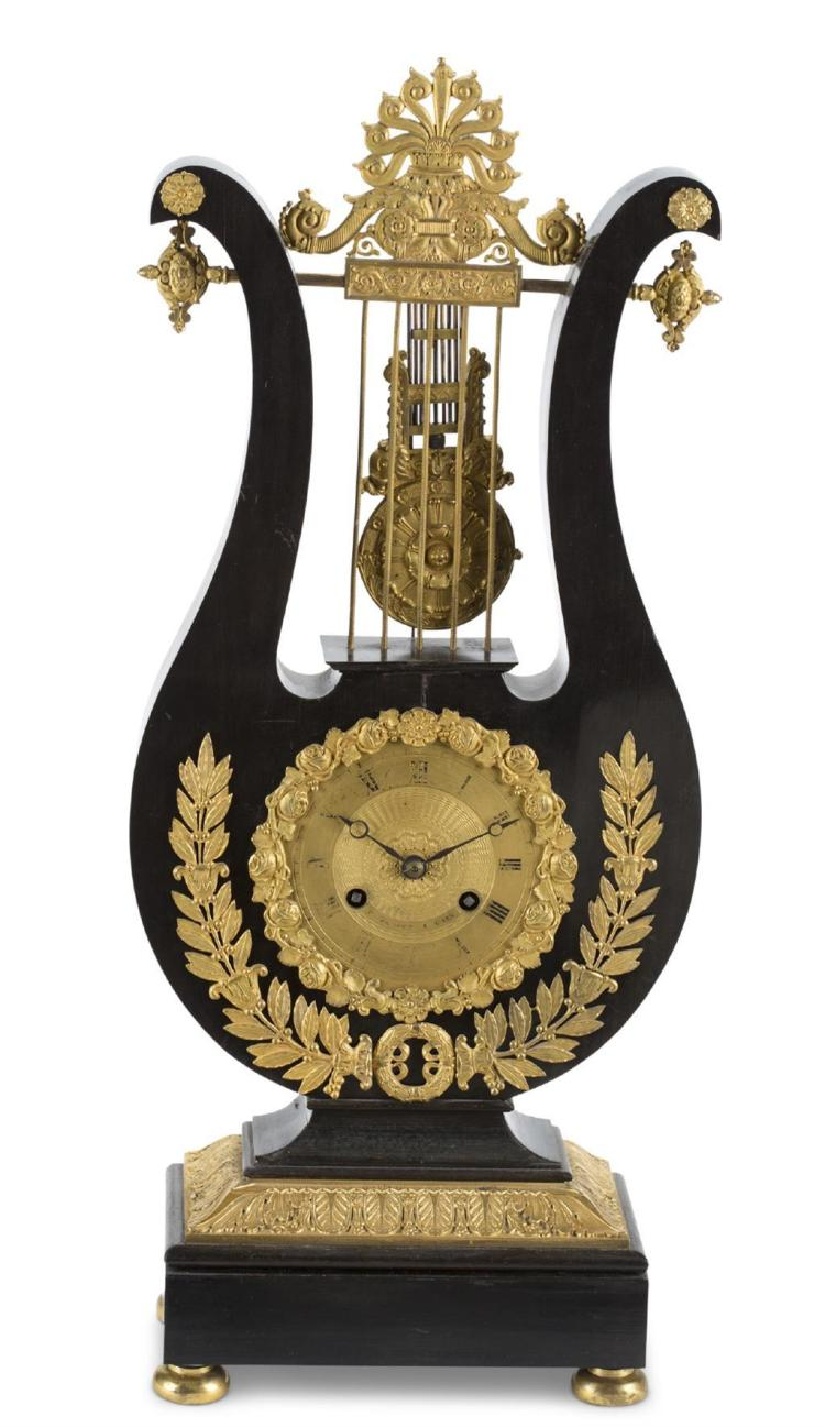 An Empire style table clock, french, 20th century