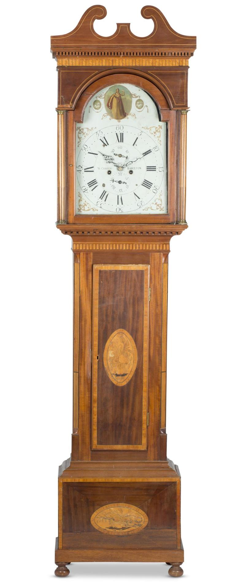 A Georgian mahogany tall case clock, william cooper (hamilton, scotland, 1808 - 1824)