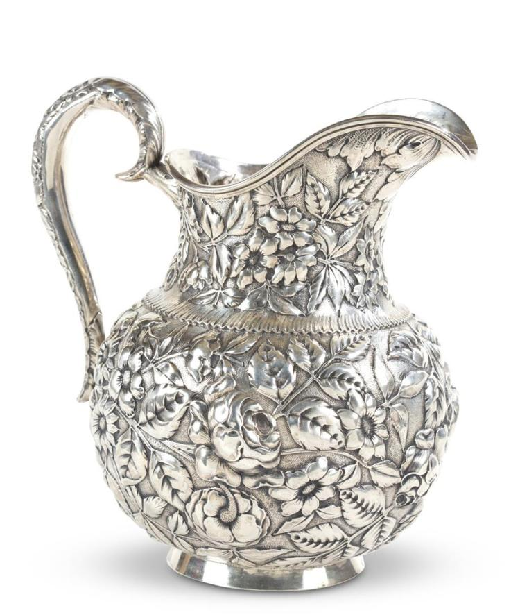 A sterling silver pitcher, albert j. gannon (active 1906 - 1914), philadelphia, pa