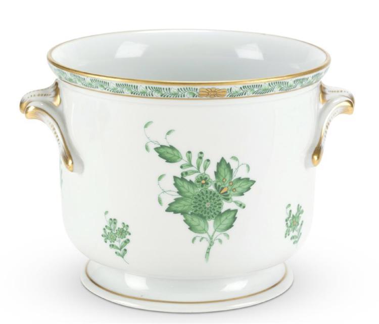 A Herend porcelain cache pot, 20th century