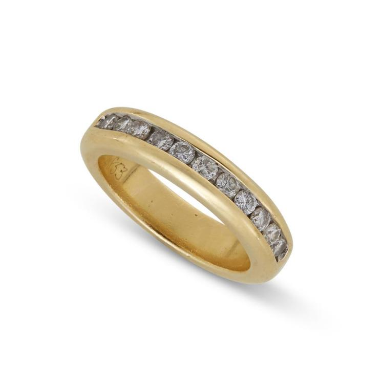 A diamond and gold band, Hammerman Brothers,