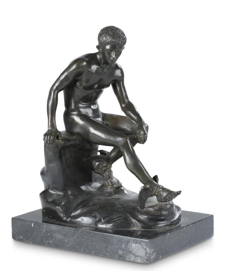 A bronze sculpture of Hermes, italian, after sabatino de angelis & fils, 20th century