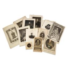 (History of the Book : Grangerism). Lot of Engraved Bust Portraits, etc. Approximately 150 pieces in sum, including U.S. Presidents,...