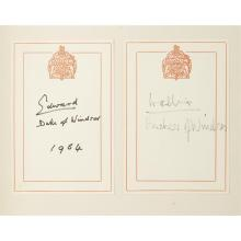 (Bindings) 1 Vol. Windsor, Edward, Duke of. Farewell Speech of King Edward the Eighth Broadcast from Windsor Castle... With the Inst...