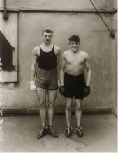 (Modern Art : Photography) 1 Piece. Photograph. Sander, August. The Boxers. (1929). Posthumous gelatin silver print by Gunther Sande...