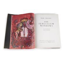 (Modern Art : Livres d''Artistes) 1 Vol. Chagall, Mark. The Jerusalem Windows. New York, (1962). Text by Jean Leymarie. First America..