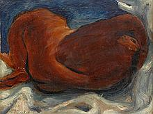 JEAN CHARLOT, (AMERICAN/FRENCH, 1898-1979), RECLINING WOMAN