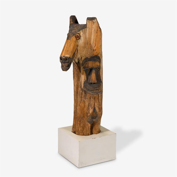 JESSIE AARON, (AMERICAN,1887-1979), HORSE HEAD