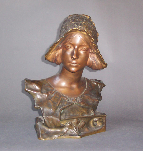 PORTRAIT BUST OF A LADY WITH BONNET