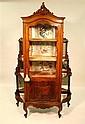 Louis XV style mahogany curio cabinet, 20th century,
