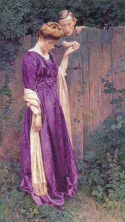 LEXDEN L. POCOCK (British 1850-1919) 'THE CLOSED WAY'