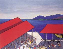SIR NOEL COWARD (British 1900-1973) QUAYSIDE MARKET, JAMAICA